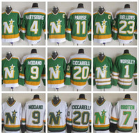 Wholesale north stars hockey for sale - Group buy Minnesota North Stars Hockey Jerseys Gump Worsley Mike Modano Dino Ciccarelli JP PARISE Craig Hartsburg Dallass Jerseys