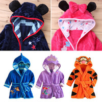 Wholesale boys bath robes resale online - 11Style Cartoon Children s Bathrobes Kids Robe Flannel Child Boys Girls Robes Lovely Animal Hooded Bath Robes Long Sleeve Baby Bathrobe M800