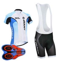 8527c1fa2 Wholesale giant cycling clothing online - 2019 GIANT team Cycling Short  Sleeves jersey bib shorts sets