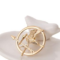 Wholesale arrow brooches resale online - 2019 The Hunger Games Brooches Inspired Mockingjay And Arrow Brooch Pins Silver gold Bronze bird badge for women men Jewelry Drop Shipping