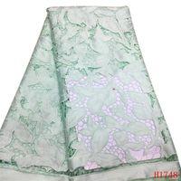 новые пароли оптовых-Baby Pink Африканская Ткань Французский Вышитые Высокого Качества Тюль Ткань Кружева Нигерия Чистая Кружевная Ткань для Партии Платье X1748