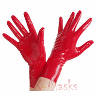 Wholesale latex rubber fetish mask resale online - Hand gloves Sex Mask Female Rubble Hood Anatomical Black Latex Rubber Mask Fetish customized catsuit costume Large size