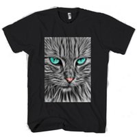 кошачья шерсть цвет оптовых-Fractal Cat Animal Feline Fur мужская / женская футболка смешная бесплатная доставка унисекс повседневная футболка топ