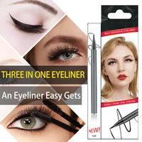 Wholesale newest style Self Adhesive Eyeliner Waterproof Non Blooming Quick Drying Three In One Eyeliner Sticky Eyelashes Magnetic Liquid Eyeliner