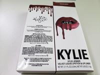 dudak topuklu ayakkabı toptan satış-Kylie Ruj Seti Likit Ruj Dudak Kalemi Kylie Kiti VAENTIINE / HEAD ÜZERİNE SAF / HARMONY / ROSIE / DAZZLE / APRZCOT / CHARM 42 Color