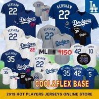 bolas de beisebol venda por atacado-22 Clayton Kershaw 150º aniversário 35 Cody Bellinger Los Angeles Camisas de beisebol Dodgers 10 Justin Turner 5 Robbie 66 Seager 42 Puig