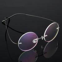 824fe7a41e UVLAIK Round Titanium Alloy Glasses Frame Men Women Frameless Spectacle  Frame Rimless Eyewear Frames Super Elastic