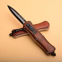 ahşap saplı av bıçakları toptan satış-BM A016 A018 Scarab Ahşap Saplı Taktik Katlanır Bıçak Cep Survival Kamp Avcılık EDC BENCHMADE BM485 BM940 581 943 BM781