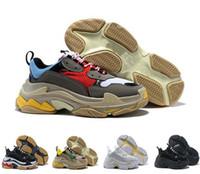 erkek moda tenis ayakkabıları toptan satış-2018 Moda Paris 17FW Üçlü-S Sneaker Üçlü S Rahat erkek Kadınlar için rahat Lüks Baba Ayakkabı Bej Spor Tenis Tasarımcısı Koşu Ayakkabısı 36-45