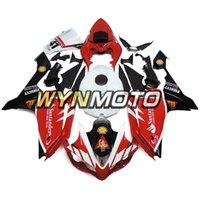 yamaha r1 santandır toptan satış-Santander Kırmızı Siyah Yamaha YZF1000 R1 Yıl 2007 Için Yüksek Kalite Enjeksiyon Muhafaza 2007 Komple Fairing Kiti R1 07 08 Vücut Kiti En Iyi Cowling