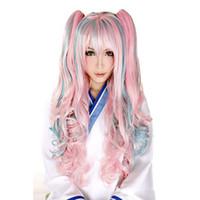 güzel uzun peruklar toptan satış-68 CM Renkli Güzel Uzun Dalgalı Peruk Cosplay Tam Ön Saç Kız Kıvırcık Sentetik güzel Yüksek Yoğunluklu Sıcaklık Sentetik Peruk