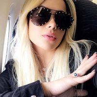 ec6b6fc0a0 Oversized Mirror Sunglasses Rimless Aviator Sun Glasses Women Luxury Italy  Brand Designer Shades Female Ladies Red Oculos De Sol
