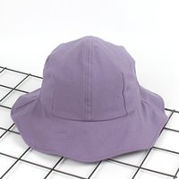 sombreros de cubo rosa al por mayor-Nuevo ala grande Cubo Sombrero mujer Moda verano cúpula Bob Caps falbala panamas Playa Sol Pesca Bucket cap lavanda rosa naranja