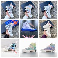 Wholesale basketball shoes limited edition resale online - 2020 xshfbcl new limited edition custom printed canvas shoes fashion versatile high and low shoes Flowers letter animal print High Top