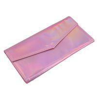 Wholesale makeup brush pack bag resale online - New Fashion Pu Makeup Brush Pack Laser Jacks Laser Makeup Brush Bag Symphony Color Dark Buckle Bag