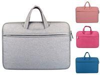 Wholesale felt macbook sleeve resale online - 11 quot Laptop Sleeve Felt Ultralight Notebook Tablet Pad Case Multi Pocket Pouch Bag Briefcases For Apple Macbook