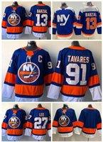ingrosso lea moda-Personalità New York Islanders MENS 91 TAVARES 13 BARZAL 27 LEE maglie Hockey magliette TOP, Fashion fan negozio online per la vendita maglie sportive