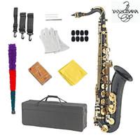 sax c großhandel-Schwarz Nickel Gold Neu YANAGISAWA T-902 Saxophon Tenor Support Professionelles Tenorsaxophon Sax mit Koffer