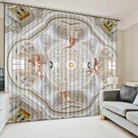 cortinas con dibujos modernos al por mayor-Foto Cortinas 3D Personalizar Tamaño 3D patrón de Euporean sala de estar dormitorio cortinas para el dormitorio Modern Blackout Ventana