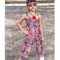 Wholesale sexy baby clothes for sale - Group buy 1 Year Children Jumpsuit New Kids Baby Girls Summer Clothes Sexy Overalls Sling Jumpsuit Sleeveless Floral Striped Romper