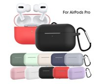 Wholesale thinnest iphone silicone case online – custom 100pcs For Apple Airpods Cases Silicone Soft Ultra Thin Protector Airpod Cover Earpod Case Anti drop Airpods pro Cases DHL Shipping