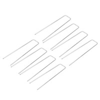 Wholesale pin ground online - Garden Landscape Staples Stainless Steel U Shape Ground Grass Pins Stake Spikes Pegs for Securing Ground Cover Inch