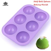 Wholesale silicone ball cake mold resale online - New Holes Silicone Baking Mold D Half Ball Sphere Mold Chocolate Cupcake Cake DIY Muffin Bakeware kitchen Tools