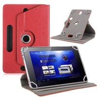 регулируемые подставки для фотоаппаратов оптовых-Универсальный 360 Вращающийся Регулируемый PU Кожаный Чехол Стенд С 3 Зарезервированным Отверстием Камеры Для 7-дюймовый Планшетный ПК MID GPS PSP