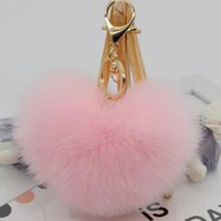 Wholesale key phone holder shapes for sale - Group buy Romatic color heart shape Keychain Pendant Women s Key Ring Cell Phone Holder Key Chains Bag Chain Pendant Car Accessory