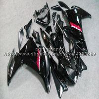 черный fz6r обтекатель оптовых-23colors + винты черный мотоцикл статья для yamaha FZ6 09 10 FZ6R 2009 2010 ABS пластиковый обтекатель