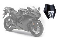 motorlu taşıtlar toptan satış-Motosiklet Halojen Far Göstergesi Fairing Abajur Dirt Bike Motor için Büyük Far Darkness Ücretsiz Kargo Ile Yarış Keyfini