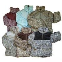 inverno velo berber venda por atacado-Crianças Sherpa Pullover Babys Hoodies Zipper Berber Fleece Moletons Outwear Outono Inverno Moda Jaqueta Patchwork Moletom Com Capuz Sherpa Camisola