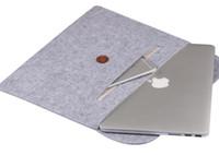 manchon de carnet en cuir achat en gros de-Sacoche pour ordinateur portable 13.3 15.6 pouces pour macbook air 13 cas Housse ordinateur portable étui pour macbook pro 13 cuir femme macbook pro air