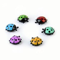Wholesale Lovely Ladybug fridge magnets home decor decorative refrigerator Magnetic sticker Room Decoration Message paper Fixed paste
