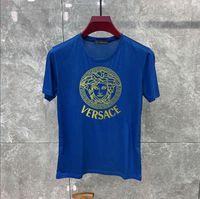 kuş stili gömlek toptan satış-2019The Yeni Stil Kuş Tüy Baskı Serisi Tasarımcı T Shirt MARCELO BURLON Moda T Gömlek