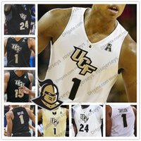 Wholesale basketball jersey numbers for sale - Group buy Custom UCF Knights College Basketball Any Name Number Gold White Black BJ Taylor Aubrey Dawkins Tacko Fall Collin Smith Jersey