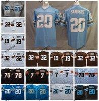Wholesale NCAA Vintage Mens Deion Sanders Jim Brown Jersey Bernie Kosar Anthony Munoz Boomer Esiason Football Jersey