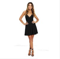 Wholesale modest knee length dresses resale online - Modest A Line Cocktail Dresses Spaghetti Straps Cheap Bridesmaid Dresses Backless Homecoming Gowns Knee Length Women Skirt Prom Wear