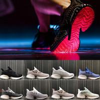 rebote zapatillas tamaño al por mayor-2019 Recién llegado de Alphabounce Instinct CC W para hombre Zapatillas deportivas verde blanco Alpha Bounce zapatillas de deporte para mujer zapatillas Tamaño 36-45