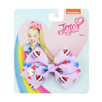 Wholesale grosgrain ribbon resale online - Christmas Baby Girls Jojo siwa bow Hair Clip Grosgrain Ribbon Hairclip Barrettes bowknot Hairpins DIY Hair Accessory Gifts with Cardboard