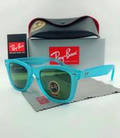 modelos de óculos de sol polarizados venda por atacado-Qualidade real marca óculos de sol 4165 justin modelo lentes polarizadas homem mulher com pacotes de estojo de couro original, acessórios cinza caixa de prata
