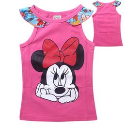 Wholesale New Stylish Girls - 2015 Summer New style Minnie Cartoon Girls cotton short-sleeved vest TShirt girls stylish t shirts C001