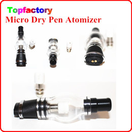 Wholesale E Cigarette Atomizer Clear Glass - Bulb Wax Micro Atomizer Globe Glass Pyrex Glass ceremic coil for flat connector Pen E Cigarettes E Cig Clear CartomizerVaporizer