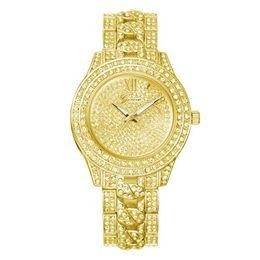 Wholesale Man Woman Watches Sets - Fashion Trend Diamond Watch High-grade Alloy Geneva Set Auger Watches Men Women Luxury Watches