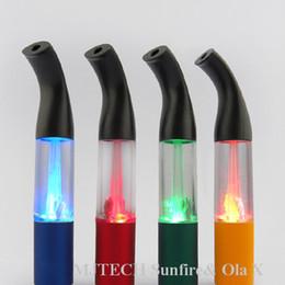 Wholesale Ego T8 Sax Atomizer - Super Vapor LED Clearomizer T8 LED Atomizer Vaporizer for Ego Starter Kits E Cigarettes Cartomizer Sax shape T8 DHL FREE