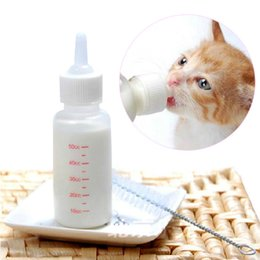 Wholesale Puppy Nursing Bottle - Wholesale-R1B1 New Pet Small Dog Puppy Cat Kitten Milk Nursing Care Feeding Bottle Set