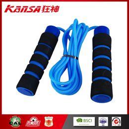 Wholesale Retail Sales Supplies - Kansa-0740 Black Foam Blue Training Fitness Supplies Jump Ropes Sports&Outdoors Popular Good Sale Jump Ropes Retails
