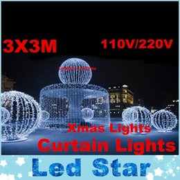 Wholesale Led Lights Marriages - 3x3m Curtain Led Lights Creative Wedding Marriage Halloween Birthday Party decorations Kids Event Party Supplies Christmas Fairy Lights