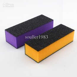 Wholesale Brand Purple and Orange Sponge Sandpaper Way Buffer Block Files Sanding File Nail Art Tools B006