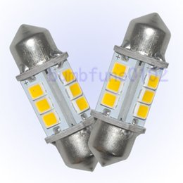 "Wholesale Led Bulbs Rectangle Flood - 20pcs 32MM 1.25"" 6413 6475 6418 Dome Festoon 12-2835-SMD LED Light Bulb Warm White for free shipping"